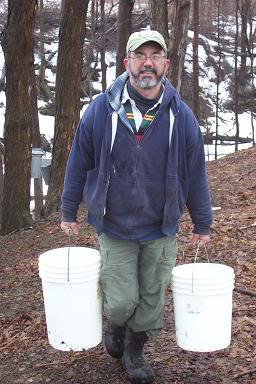 carrying buckets